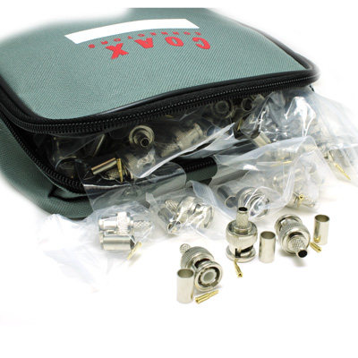 Coax Pack BNC Crimp / Crimp Plug for RG59 - 75 Ohm (1GHz) - Image 1