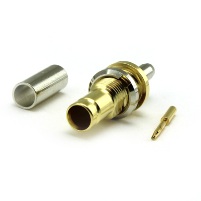 1.0/2.3 Rear Mount Bulkhead Crimp/Crimp Jack 75 ohm - Image 2