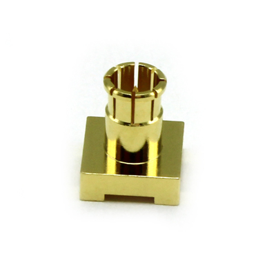 67-403-D126 - Micro BNC Vertical PCB Mount Push On Plug 12GHz