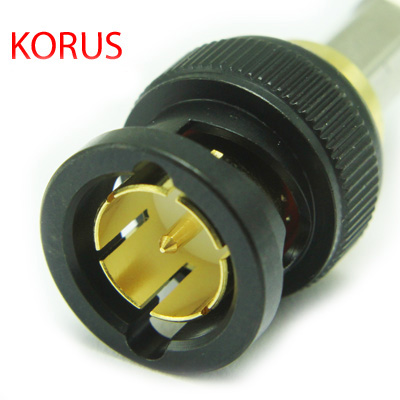 10-005-W126-BH - 'KORUS' Ultra HD 12G BNC Straight Crimp / Crimp Plug True 75 Ohm