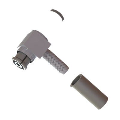 SMP Non Magnetic Right Angle Solder / Crimp Plug - Image 1