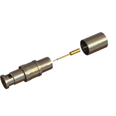 67-005-B66-FI - Micro BNC Straight Crimp / Crimp Plug 75 ohm 12GHz