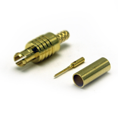 45-005-D6-AB - MCX 75 Ohm Straight Crimp / Crimp Plug