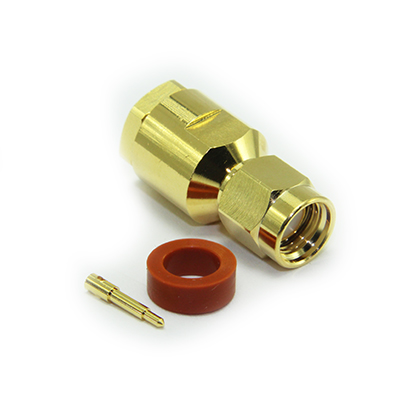 SMA Straight Solder / Top Hat Clamp Plug - Image 1