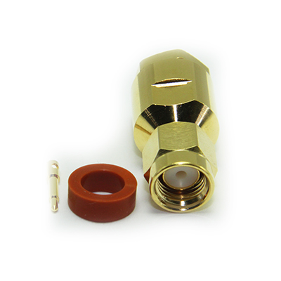SMA Straight Solder / Top Hat Clamp Plug - Image 2