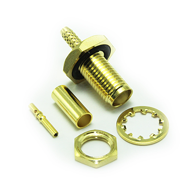 SMA Rear Mount Bulkhead Crimp / Crimp Jack - Image 3