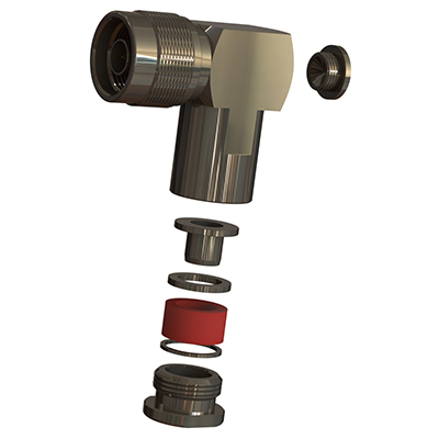 N Type Right Angle Solder / Top Hat Clamp Plug - Image 1